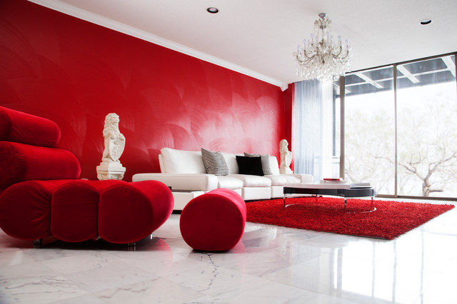 Red Room Dinah Capshaw Interior Designs Modern