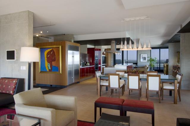 red splendor contemporary-living-room