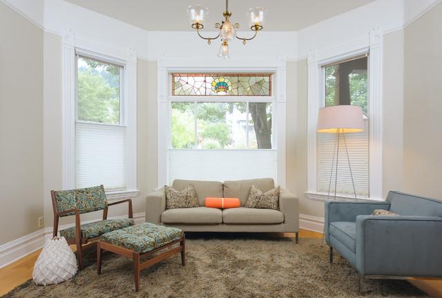 Redisch 1923 townhouse modern interior update modern for Townhouse living room ideas
