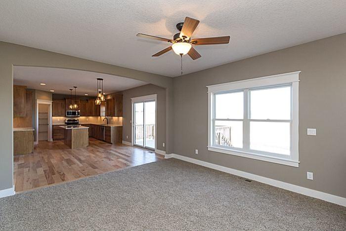 Redrock Plan- Living room, dining, kitchen