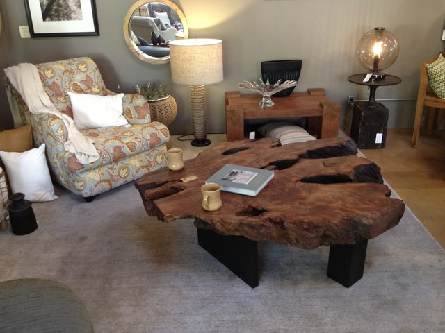 Redwood Burl Coffee Table Living Room