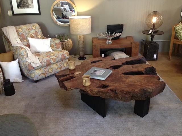 Redwood Burl Coffee Table Living Room