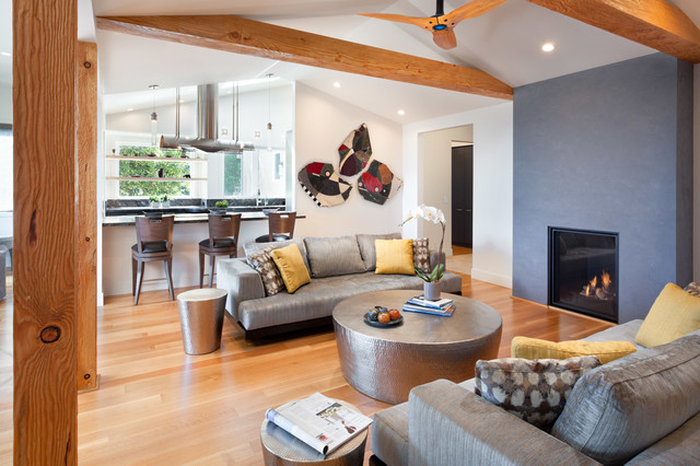 Redwood City Home Remodel Contemporary Living Room