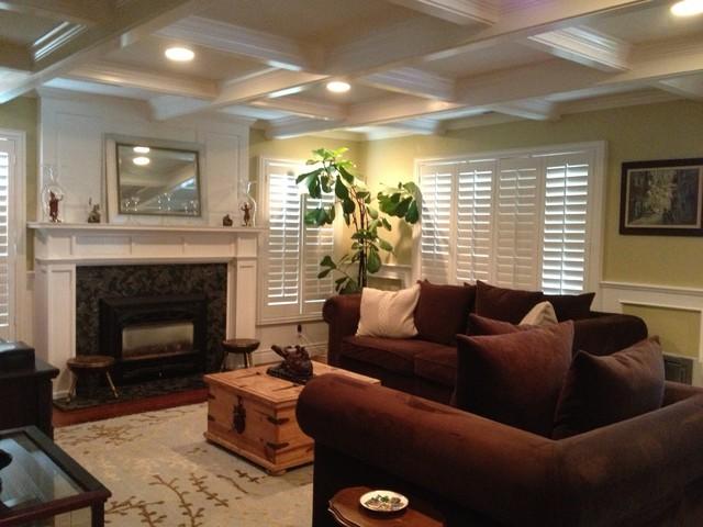 Redwood City Remodel Tropical Living Room San