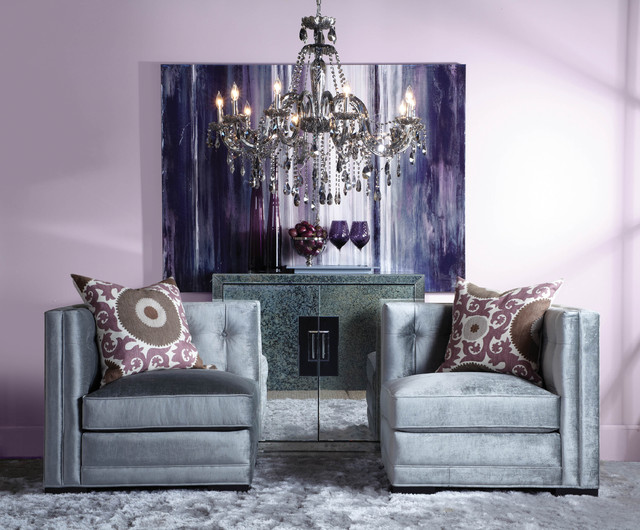 aubergine and grey living room refined grace contemporary living room los angeles 20911