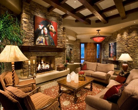 Refined Western Fusion Traditional Living Room Phoenix By Rondi The Art Of Space
