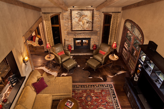 Refined Western Inspired Interior traditional-living-room