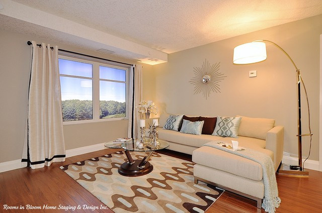 Reflections at Laurelwood: Model Condo Designed to Sell contemporary-living-room