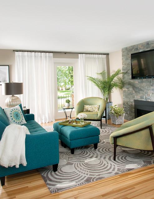 Refreshing Renovation Contemporary Living Room New