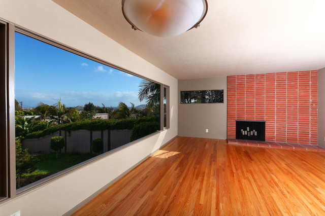 Refurbished1955 Ranch Lowell St Point Loma Ca Contemporary Living Room San Diego By