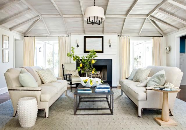 Relaxed Modern Beach Style Living Room Jacksonville By Andrew Howard Interior Design