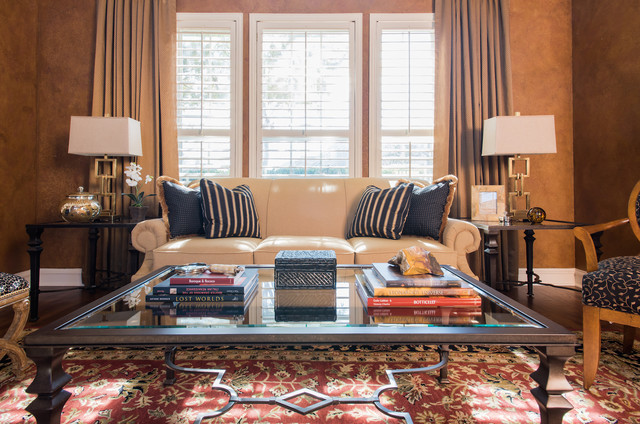 Relaxed Sophisticated Living Room Traditional Living