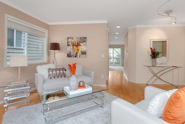 Relaxing Kirkland Townhouse transitional-living-room