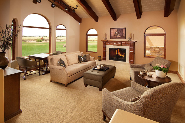 Remodeled Arizona Farmhouse Transitional Living Room