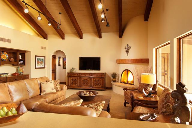 Remodeled Arizona Farmhouse Transitional Living Room