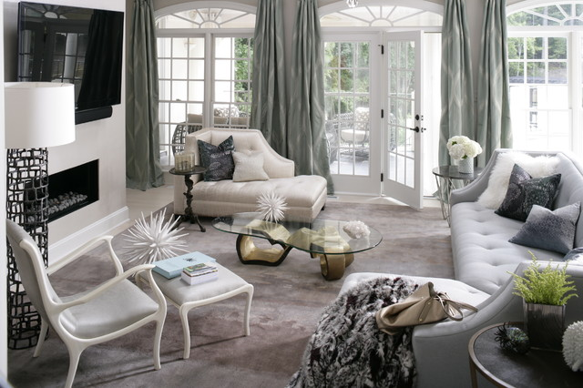 Remodeling luxe living room contemporary living room for Living room ideas heather