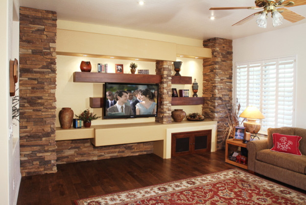 Remodeling Traditional Living Room Phoenix By