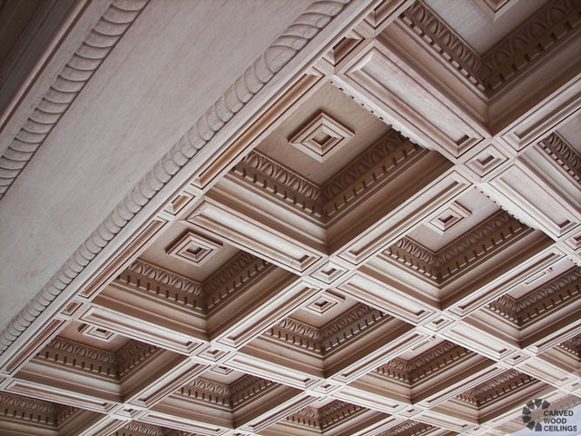 Renaissance Coffered Ceiling Traditional Living Room