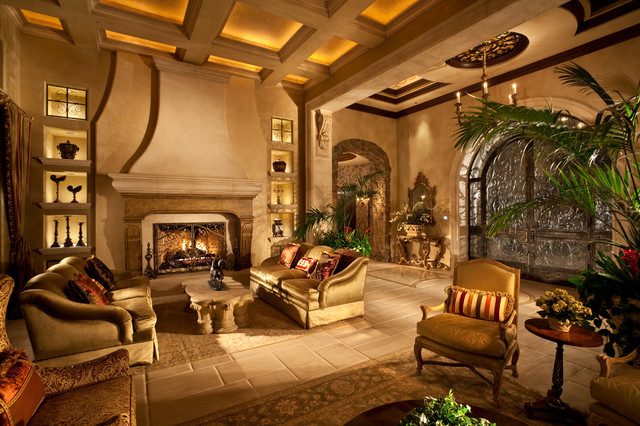 Renaissance Waters Mediterranean Living Room Las Vegas By Sun West Custom Homes Llc