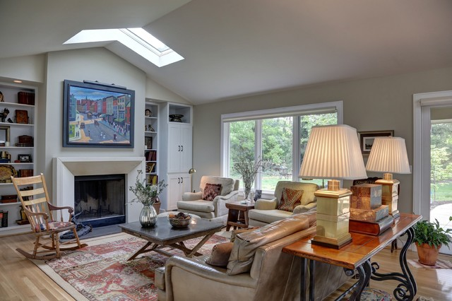 Renovated 1950 39 s ranch eclectic living room columbus - 1950 s living room decorating ideas ...