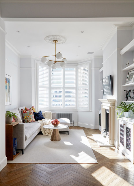 Renovation And Interior Design Of Victorian House In West Hampstead Transitional Living Room London By Hampstead Design Hub