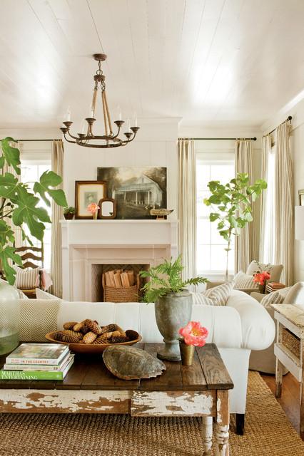 Renovation:  Senoia Farmhouse farmhouse-living-room