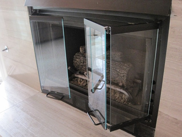 Replacement fireplace doors - Contemporary - Living Room - san diego