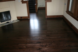 Replacement old Douglas Fir floor with new Red Oak floor - Living Room - seattle - by The Old ...