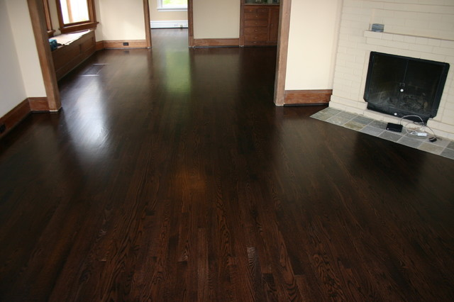 Replacement old douglas fir floor with new red oak floor for Reclaimed fir flooring seattle