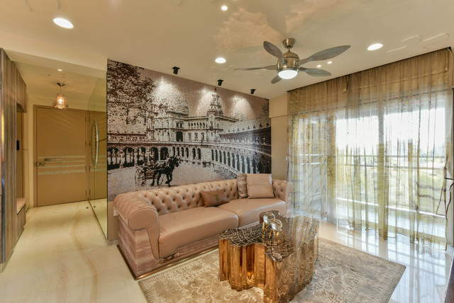 Mumbai Houzz A Shimmering City Flat Expands From 2 Bhk To 3 Bhk
