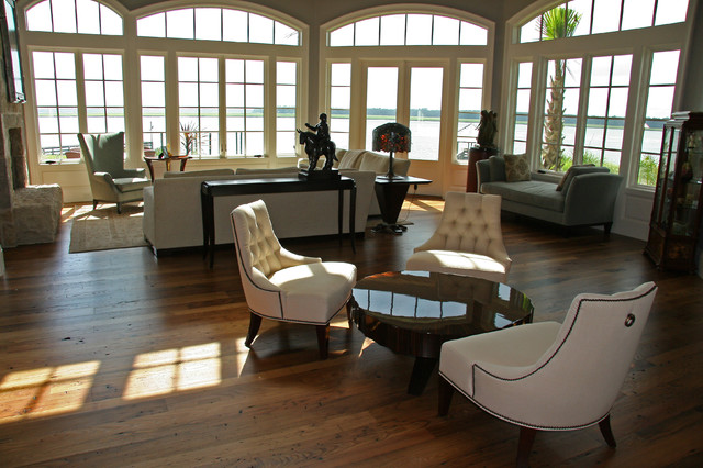 Residence in Colleton River traditional-living-room