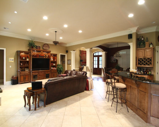 Living Room interior columns Design Ideas, Pictures, Remodel and Decor