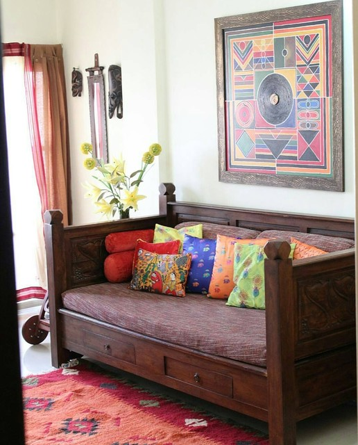 Residence In Traditional Style Indian Games Room Mumbai By Sandeep Kanvinde Houzz Uk