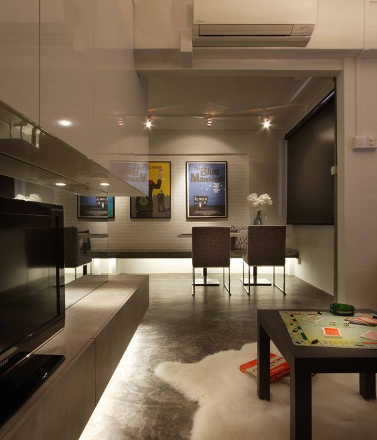 Fashion Design Interior Design Singapore: Residential Apartment With An Industrial Loft Gallery