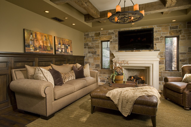 Residential cigar room for Residential living room interior design