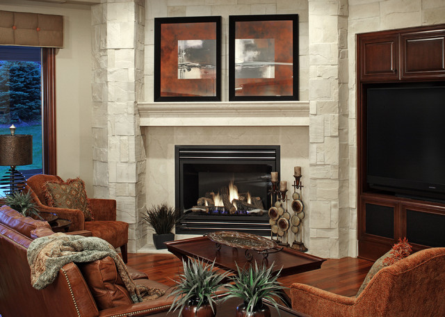 Residential traditional-living-room
