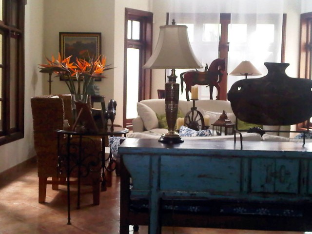 Residential eclectic-living-room