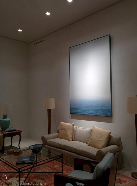Residential Modern Living Room By Lighting Design Solutions Llc