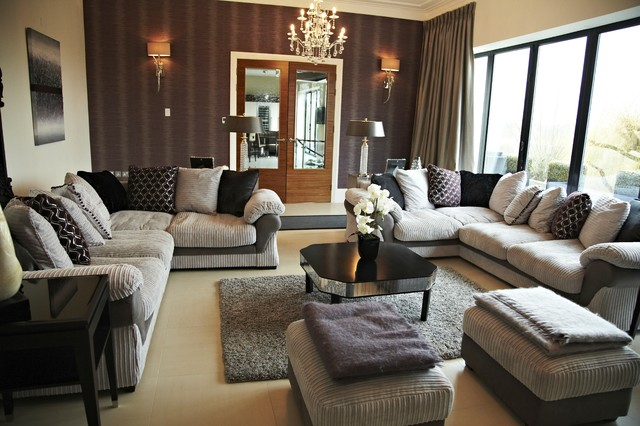 Residential contemporary living room other metro Modern living room interior design 2012