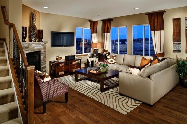 Ryland Model Homes Eclectic Living Room Denver By