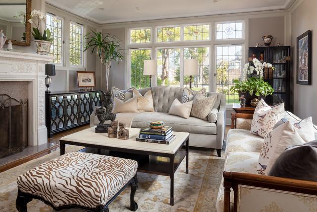 Residential portfolio traditional living room san for Residential living room interior design