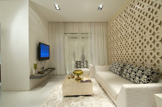 RESIDENTIAL PROJECT IN KANDIVALI, - Contemporary - Living Room ...
