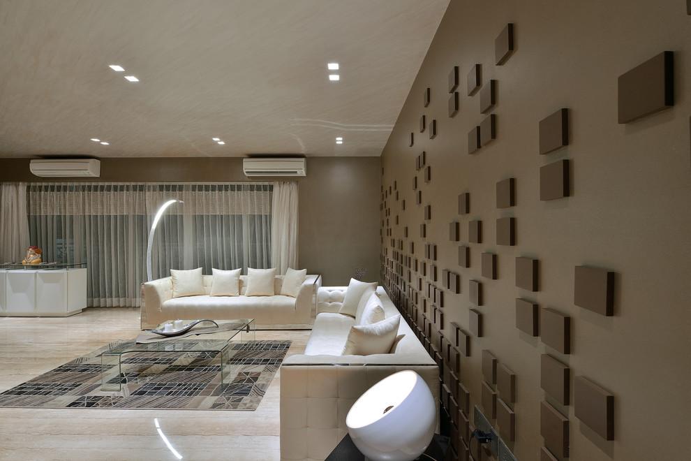 Living room - modern living room idea in Mumbai