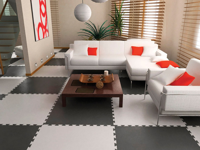 Attractive Residential Rubber Flooring
