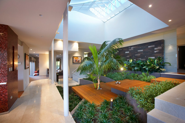 Resort inspiration tropical living room perth by for Garden room interior