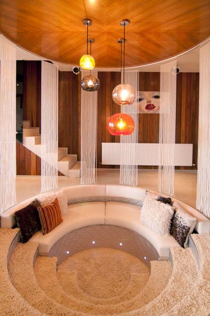 Resort Penthouse Conversation Pit Contemporary Living