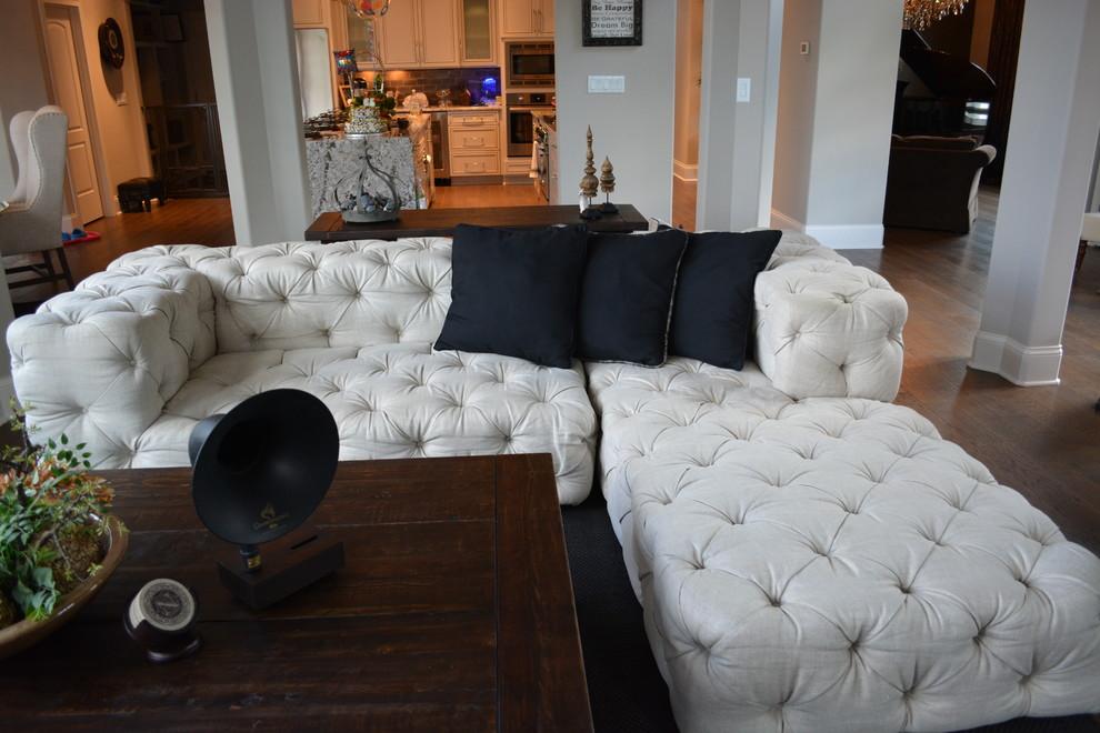 Transitional Living Room, Restoration Hardware Inspired Furniture