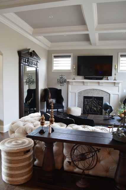 restoration hardware inspired home design transitional living room - Inspired Home Design