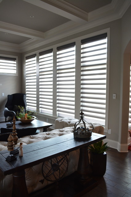 Restoration hardware inspired home design transitional for Restoration hardware window shades