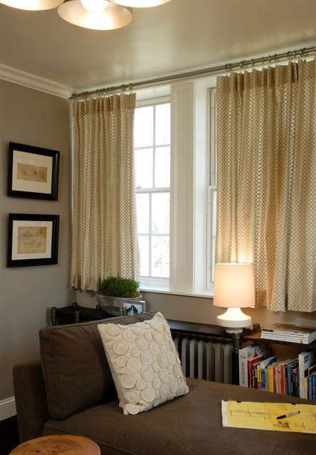 Restoration of Mill Neck Manor transitional-living-room